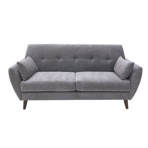 Amelie Mid-Century Modern Loveseat by Elle Decor