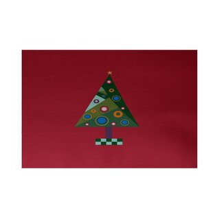 Crazy Christmas Decorative Holiday Print Red Indoor/Outdoor Area Rug By The Holiday Aisle