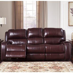 Oreana Leather Reclining Sofa