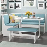 Olivia 3 Piece Breakfast Nook Dining Set by Red Barrel Studio®