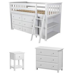 Ginny Twin Loft Configurable Bedroom Set By Harriet Bee