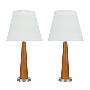 Sermons Transitional Wooden 21.5 Table Lamp (Set of 2)