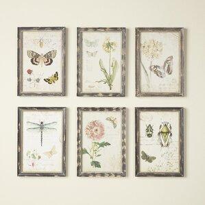 gardener wall art set of 6