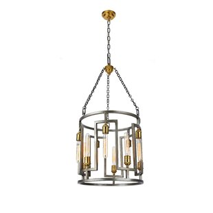 Brayden Studio Weaubleau 10-Light Lantern Chandelier