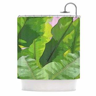 'Banana Tropics' Single Shower Curtain