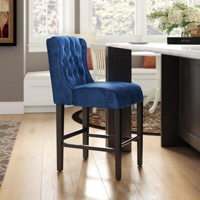 Kindig Modern 26 Bar Stool Charlton Home Color: Cobalt