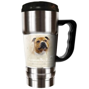 Howard Robinson's Staffordshire Bull Terrier 20 oz. Stainless Steel Travel Tumbler