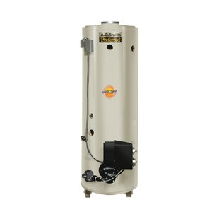 A.O. Smith Commercial Tank Type Water Heater Nat Gas Conservationist 650,000 BTU Input Powered Burner