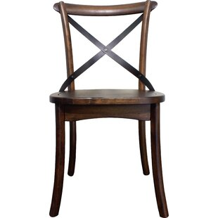 Aguon Solid Wood Dining Chair (Set of 2) Three Posts