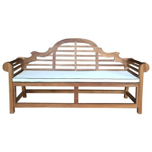 Passarelli Teak Garden Bench with Cushion