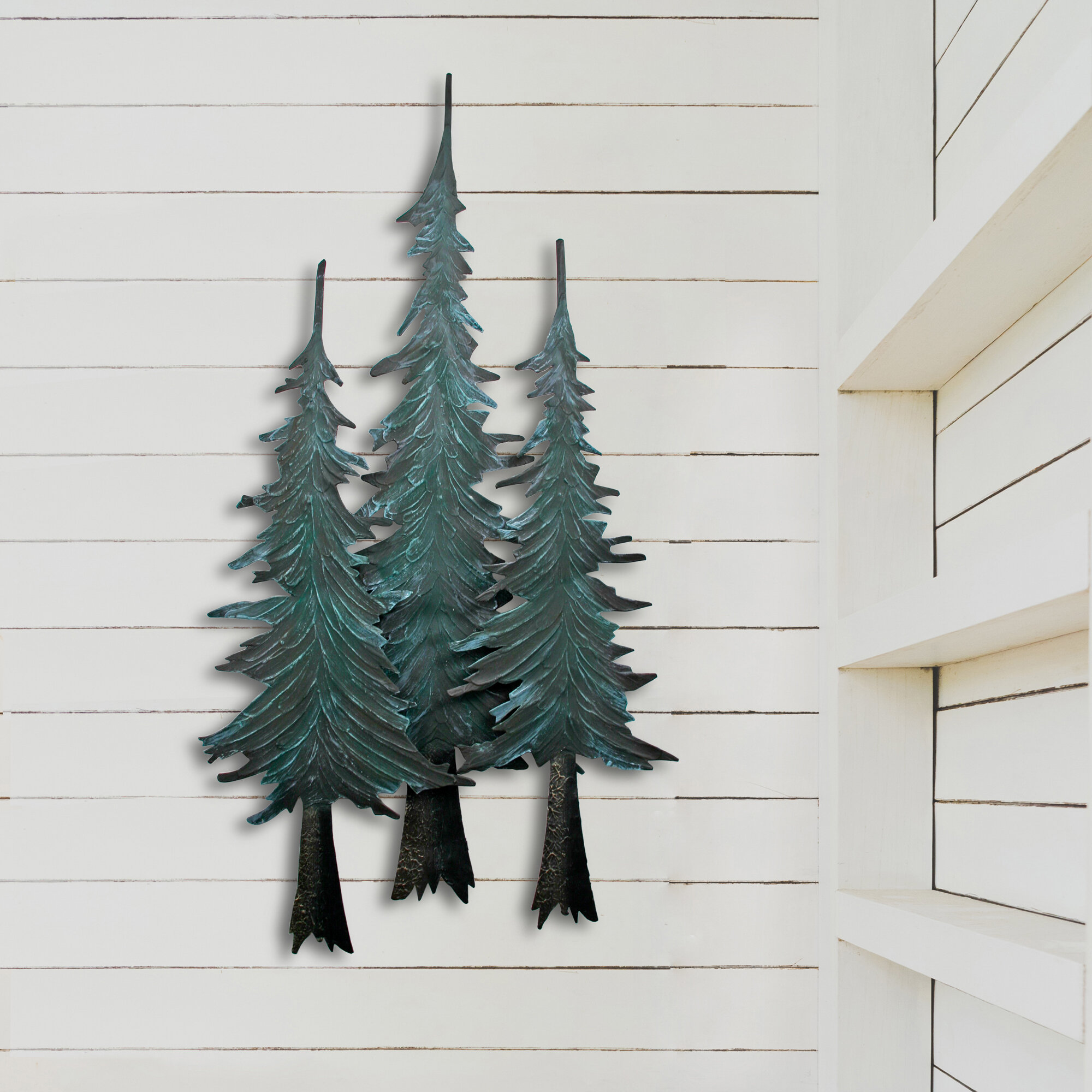 Metal Wall Art Metal Home Decor Pine Tree Branch Welcome Metal Sign