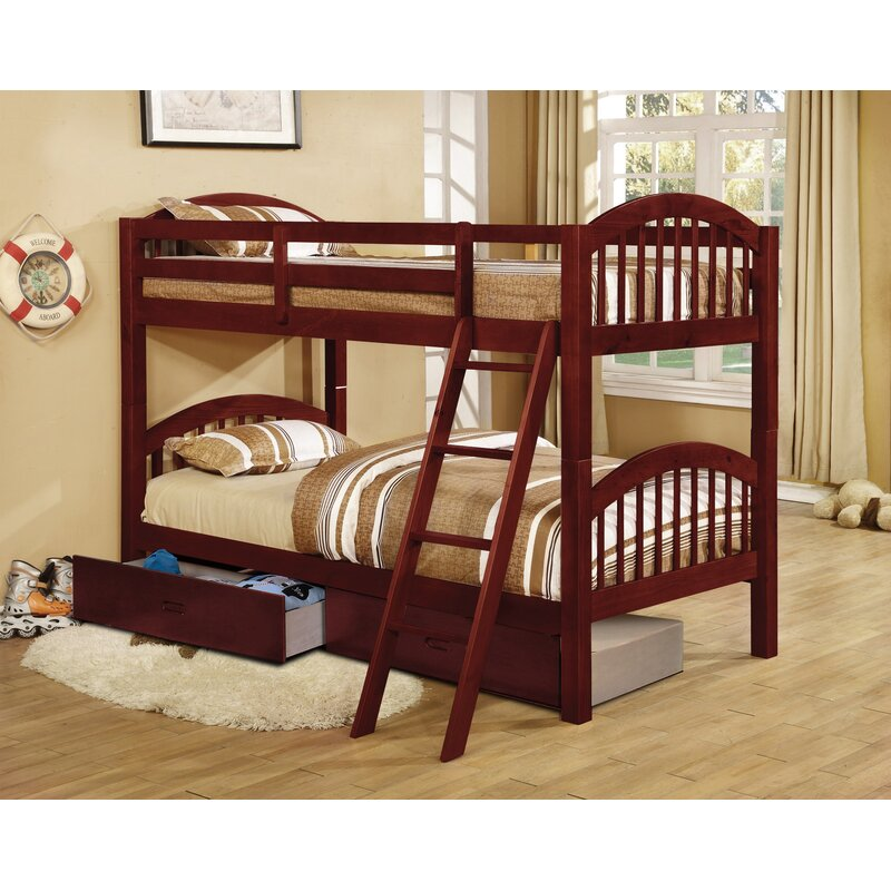 Harriet Bee Jaylyn Twin Over Twin Bunk Bed With Drawers Wayfair