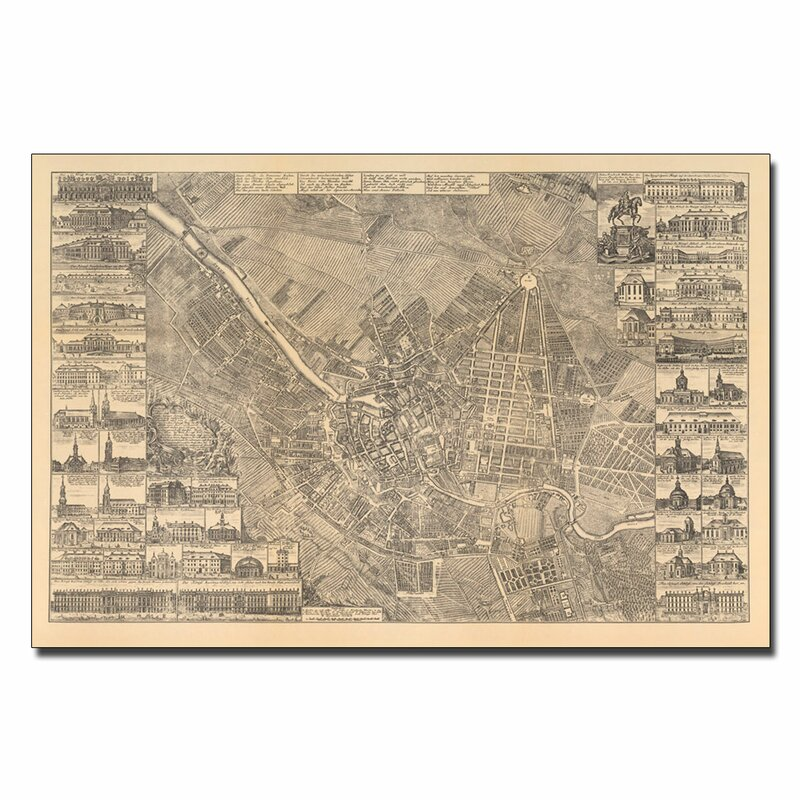 """Map of Berlin, 1773"" by Schleun Graphic Art on Canvas"
