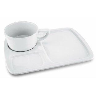 Lathan Ceramic Soup and Sandwich Divided Serving Dish Set  sc 1 st  Wayfair & Soup And Sandwich Plates | Wayfair
