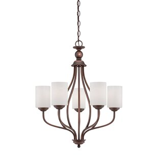Thaxted 5-Light Shaded Chandelier by Fleur De Lis Living