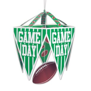 Game Day Pennant Plastic Disposable Hanging Decor