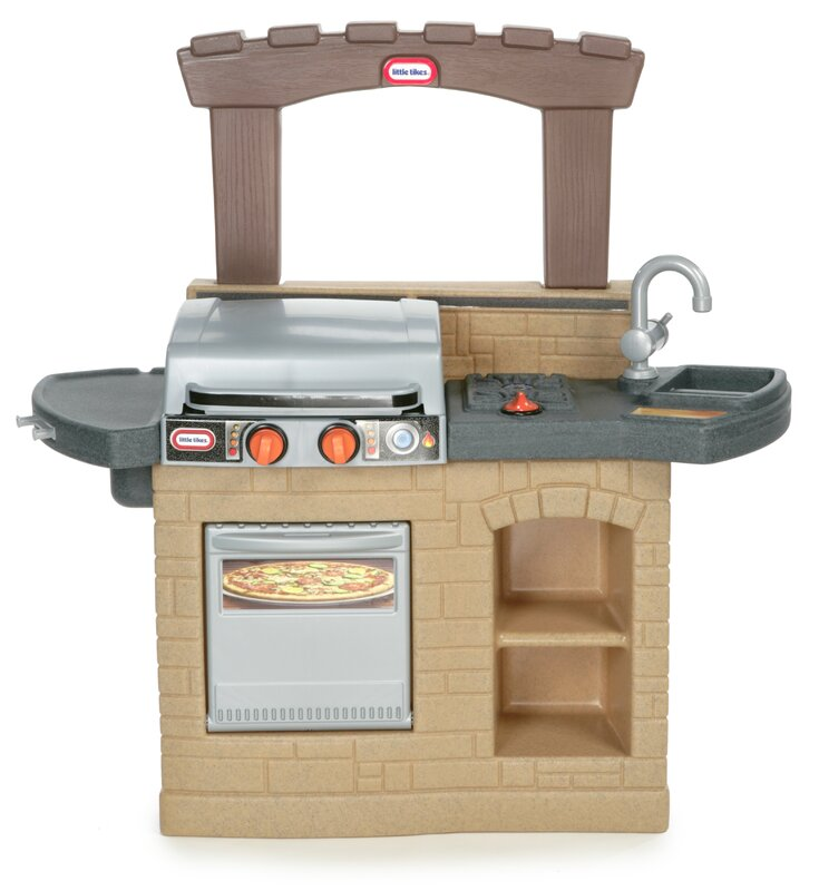 Little Tikes Cook \'n Play Outdoor BBQ™ Kitchen Set & Reviews | Wayfair