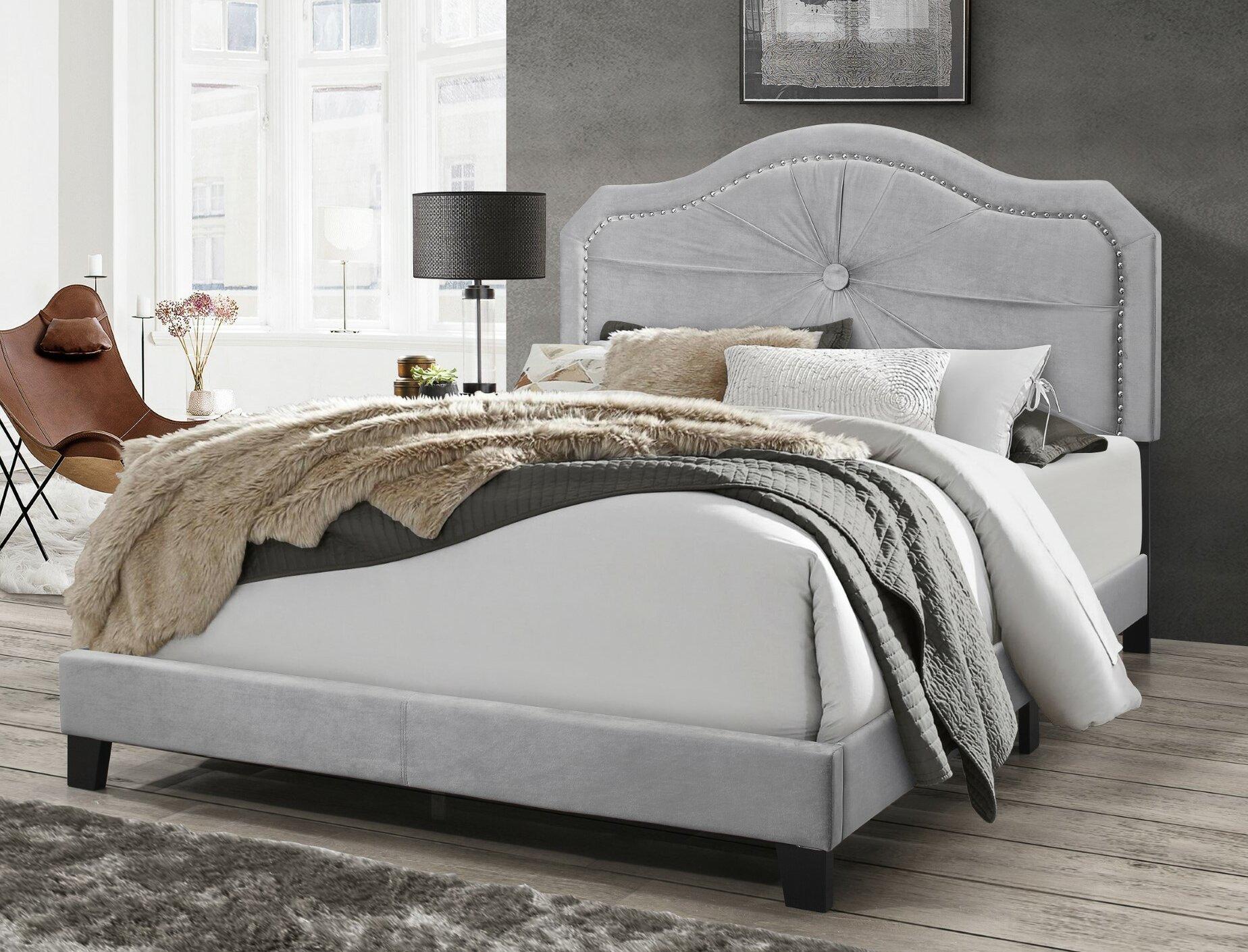 House Of Hampton Earby Upholstered Standard Bed Reviews Wayfair