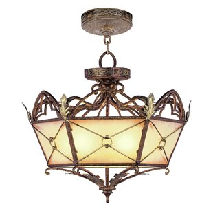 Bradner Convertible Pendant in Palacial Bronze with Gilded Accents by