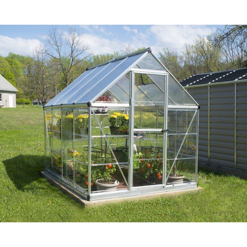"""vidaXL Greenhouse with PC Board Square 39.4/"""" Galvanized Steel Gray Planter"""