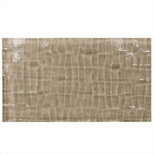 Grid Textured 6 X 3 Gl Field Tile In Brown