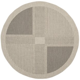 Halvorsen Sand/Black Indoor/Outdoor Area Rug