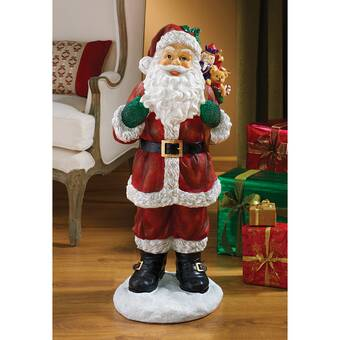 Statue Pere Noel Design Toscano A Visit from Santa Claus Holiday Statue & Reviews