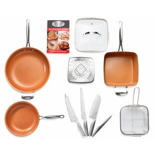 11 Piece Pro Cut Knife Kitchen Non-Stick Cookware Set