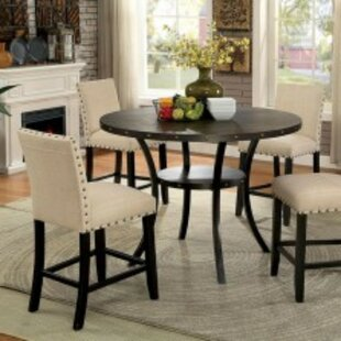 Duguay Round Solid Wood Dining Table
