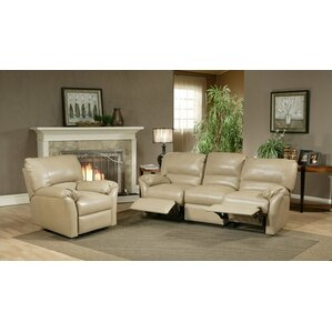 Omnia Leather Mandalay Leather Configurable Living Room Set