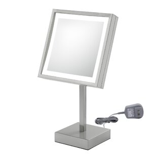 Single Sided Square Free Standing 3x Magnification LED Mirror By Kimball & Young