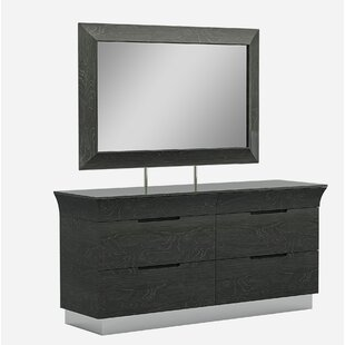 Sifuentes 6 Drawer Double Dresser with Mirror