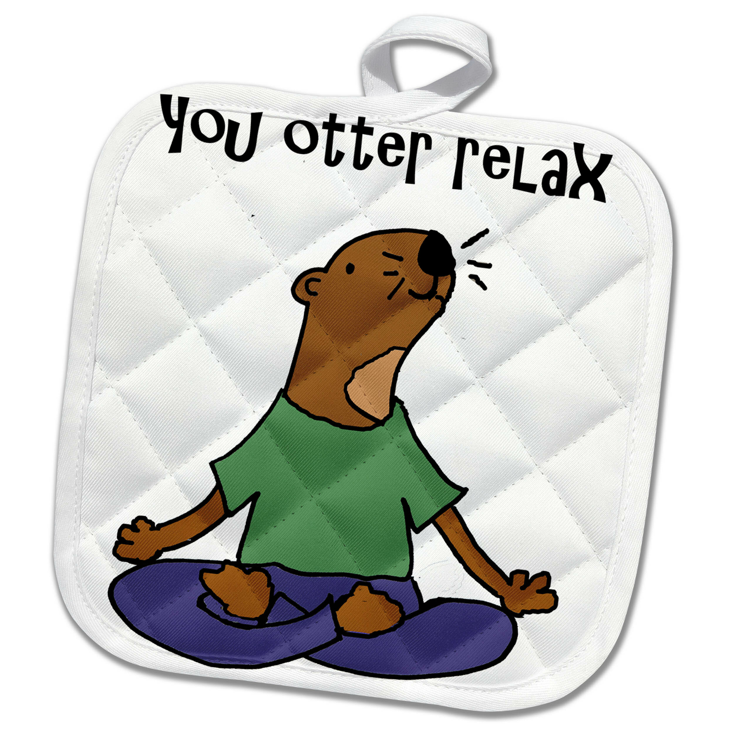 3drose Funny Cute Sea Otter Yoga Cartoon You Otter Relax Pun Potholder Wayfair