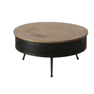 Aurora Iron And Wooden Lounge Table By Corrigan Studio