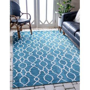 Karan Blue Indoor/Outdoor Area Rug