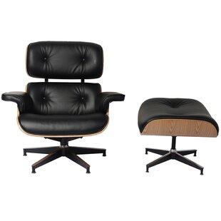 Howe Swivel Lounge Chair and Ottoman