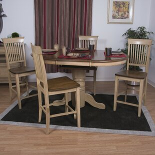 Huerfano Valley 5 Piece Pub Table Set Loon Peak