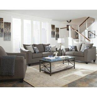 Alcott Hill Hegarty 3 Piece Living Room Set