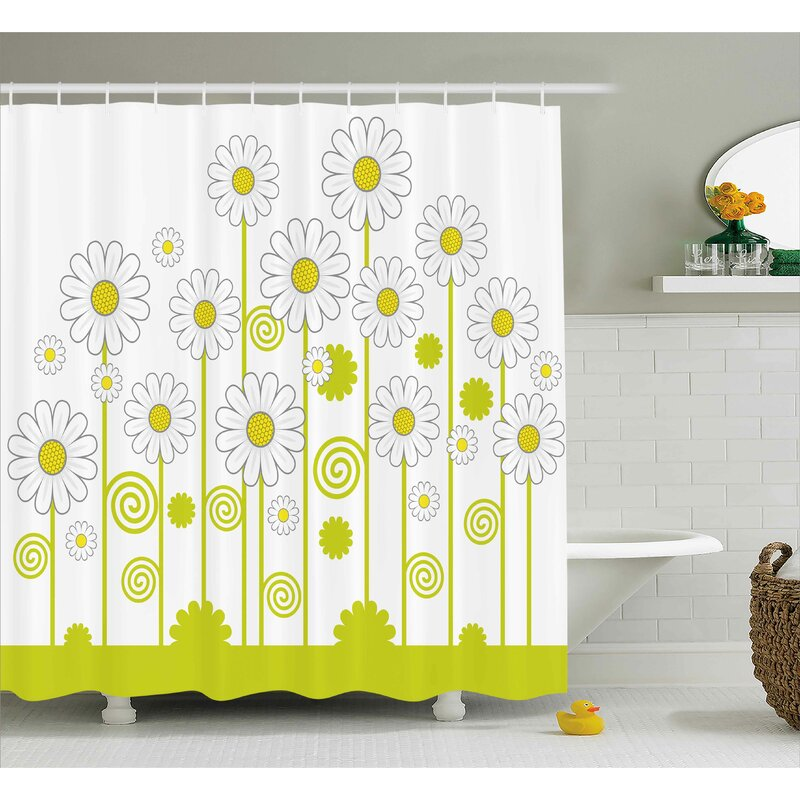 Daisy Flowers Single Shower Curtain