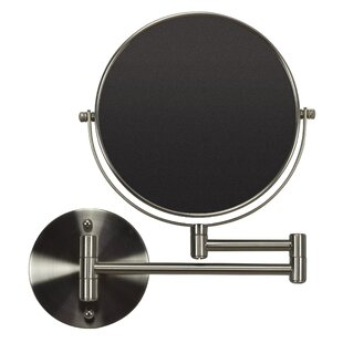 Royal Purple Bath Kitchen Boonville Round Brass-Mirror Wall Mount Magnifying Vanity Mirror