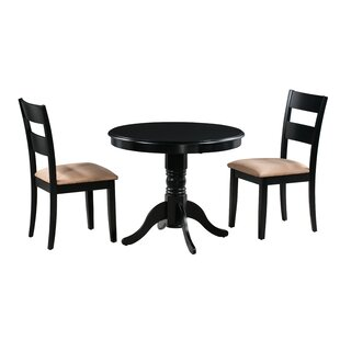 Terence 3 Piece Solid Wood Dining Set by Alcott Hill