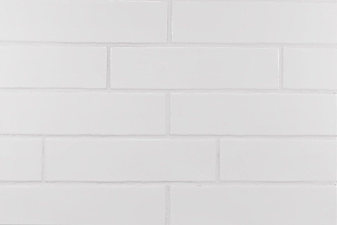 Hills Wavy Edge 3 X 12 Ceramic Subway Tile In Glossy White