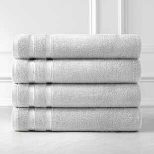 Premium Quality 100% Combed Cotton Bath Towel (Set of 4)