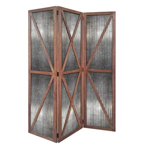 Gravesend 3 Panel Room Divider by Gracie Oaks
