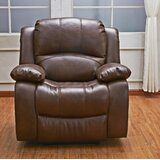 Gira Leather Manual Recliner by Red Barrel Studio®