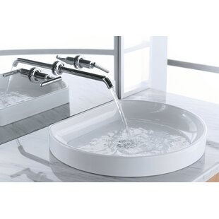 Comparison Water Cove Ceramic Specialty Drop-In Bathroom Sink By Kohler