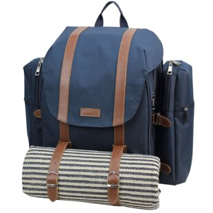 Insulated Picnic Backpack, Service for 4