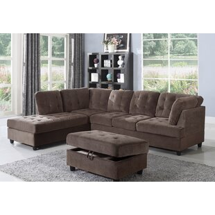 Shop Borchert Sectional with Ottoman by Red Barrel Studio