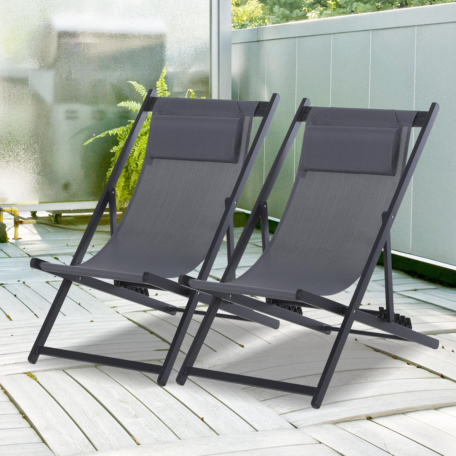 Zeitz RecliningFolding Deck Chair