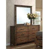 Dietz 6 Drawer Double Dresser with Mirror by Foundry Select